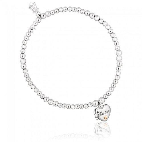 Heart Cariad® Affinity Beaded Bracelet