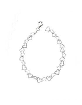 19cm Heart Linked Bracelet