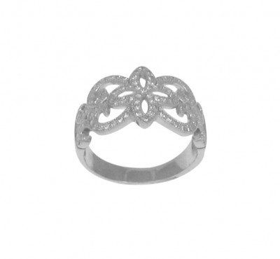 Ornate Silver and Micro Set CZ Ring