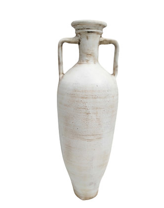 Amphora White Vase Clay Pot 90cm