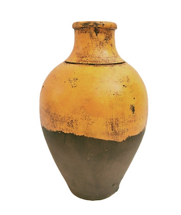 Amphora Orange Vase Clay Pot 30cm