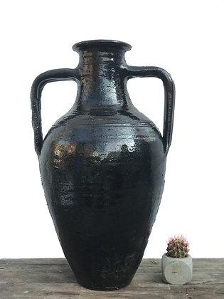 Amphora Decorative Clay Black Vase Pottery 57cm