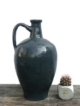 Amphora Decorative Clay Anthracite Vase Pottery 36cm