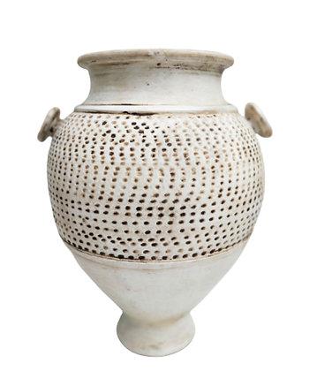 Amphora White Vase Clay Pot 45cm