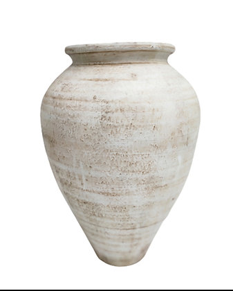 Amphora White Vase Clay Pot 70cm