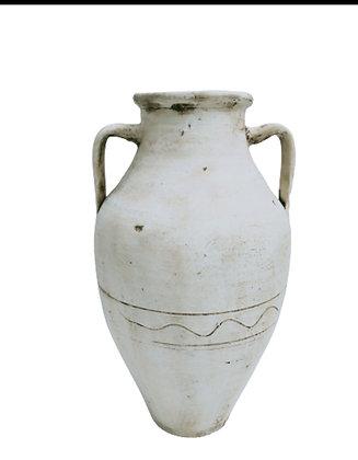 Amphora White Vase Clay Pot 65cm