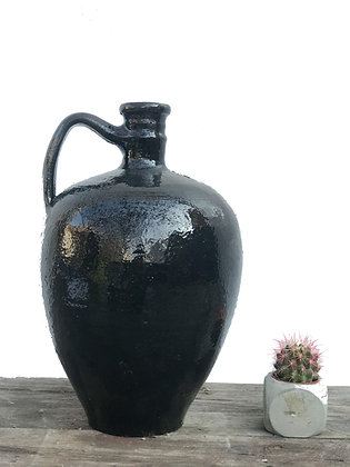 Amphora Decorative Clay Black Vase Pottery 38cm