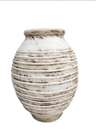 Amphora White Vase Clay Pot 60cm