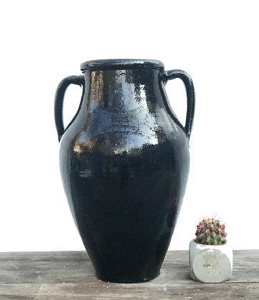 Amphora Decorative Clay Black Vase Pottery 37cm