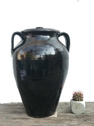 Amphora Decorative Clay Black Vase Pottery 40cm