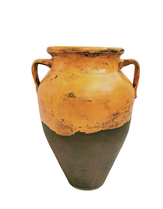 Amphora Orange Vase Clay Pot 60cm