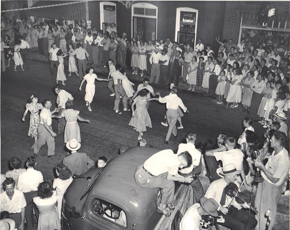 Street Dance in Downtown Kernersville circa 1940
