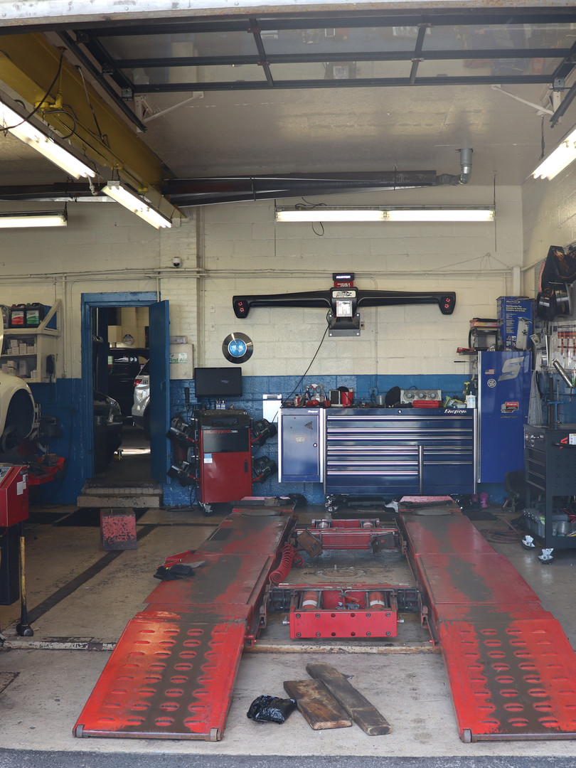 The shop is ready for its next Hawkeye Laser Wheel Alignment