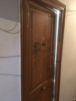 Porte blindée côté couloir