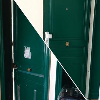 Blindage et réfection d'une porte - 75018