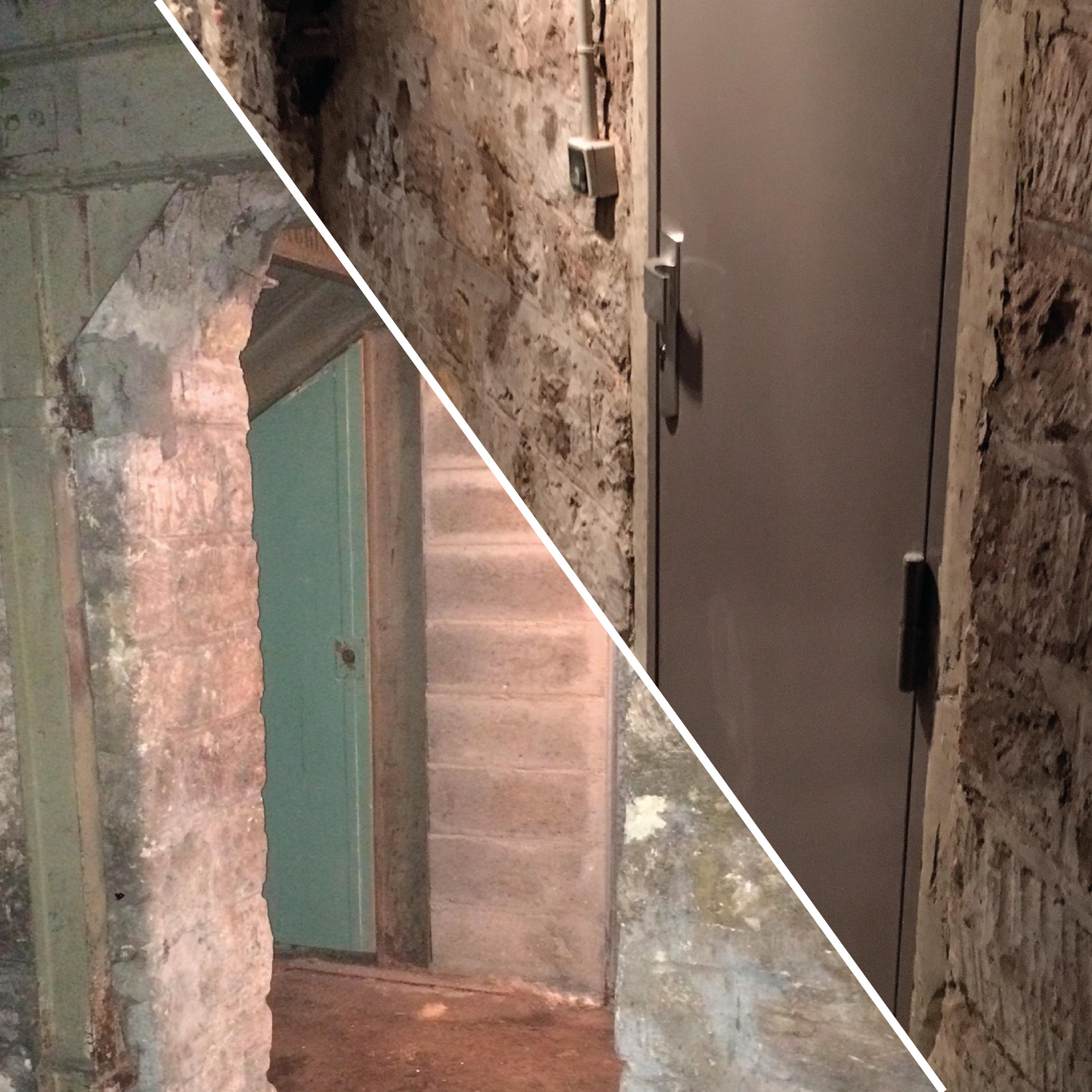 Pose d'une porte de cave - 75012