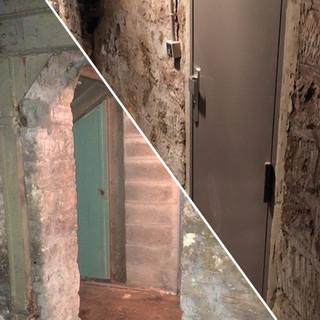 Installation d'une porte de cave avec bati neuf - 75012