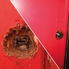 Rénovation d'une porte suite à un cambriolage - 75011