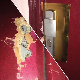 Rénovation d'une porte suite à un cambriolage - 75020