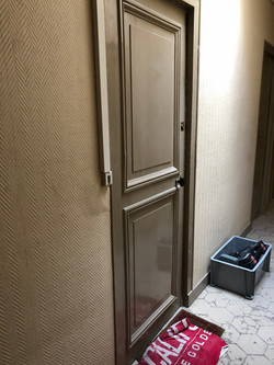 Porte bois côté couloir