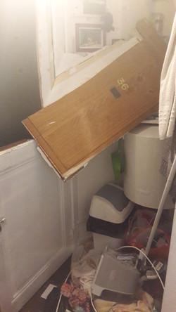 Effraction d'une porte d'entrée...