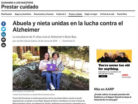 AARP En Español features Alzheimer's Brain Box