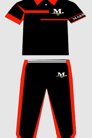 MEN'S RED/BLACK POLO SET