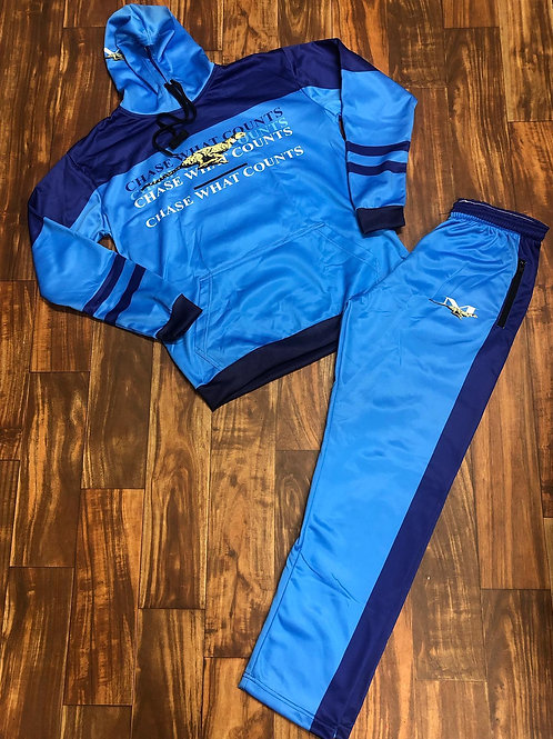 RUNNING CHEETAH TRACKSUIT - CAROLINA BLUE/NAVY