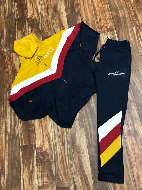 Women's Mustard/White/Red/Navy Sweatsuit