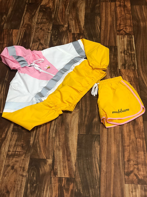 WOMENS YELLOW/PINK/WHITE