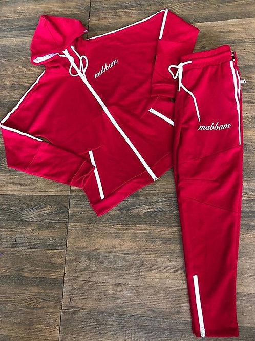 Men's Red Stripe Sweatsuit