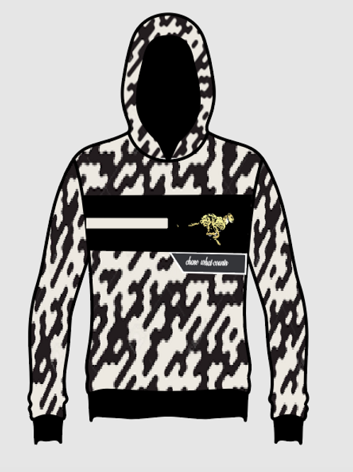 BLACK/ WHITE CAMO CHASE WHAT COUNTS HOODIE
