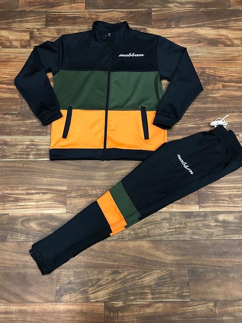 Olive/Black/Orange Sweatsuit