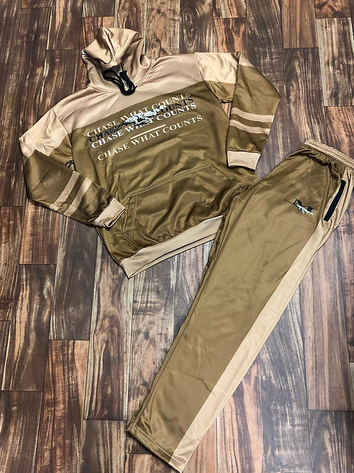 RUNNING CHEETAH TRACKSUIT - BRWN/TAN