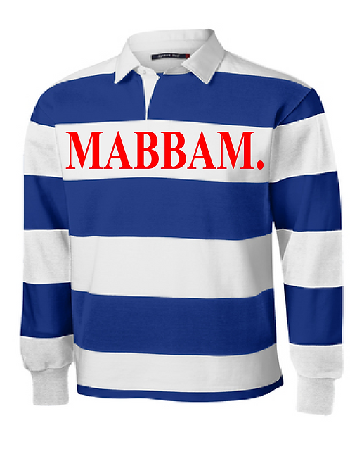 Royal Blue / White Striped Collar Shirt