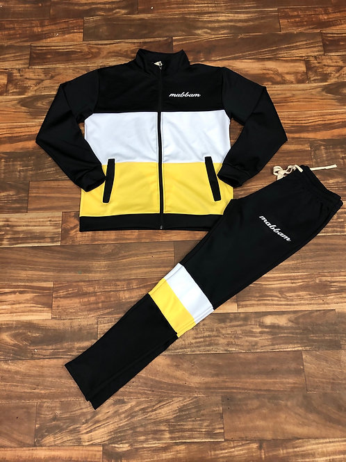 BLACK/YELLOW/WHITE Sweatsuit