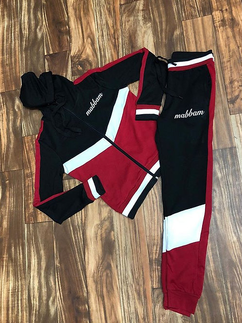 RED/BLACK/WHITE SWEATSUIT