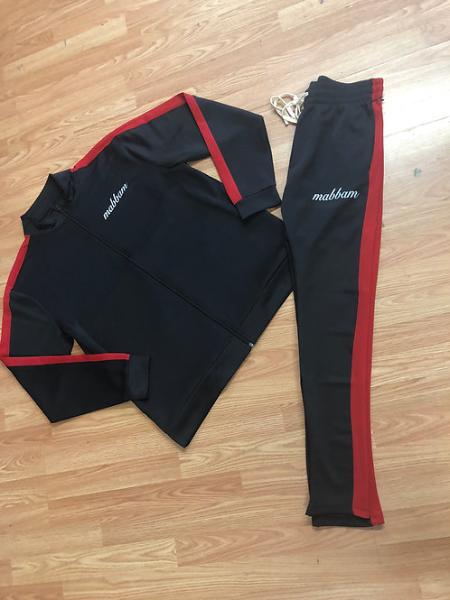 2 Tone Red/Black Tracksuit