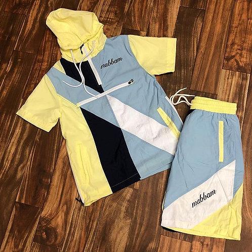 Yellow/Navy/Sky Blue Windbreaker Set