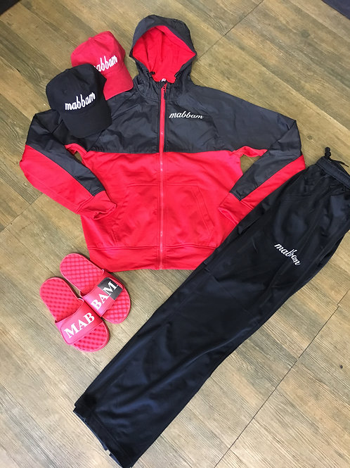Red/Black Sweatsuit Set