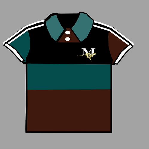 MEN'S TEAL/SYRUP/BLACK  POLO