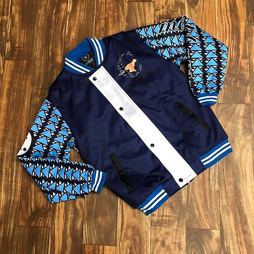 NAVY & SKY BLUE VARSITY JACKET