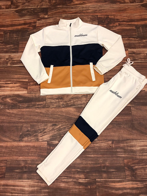 CREAM/TIMBER/NAVY Sweatsuit