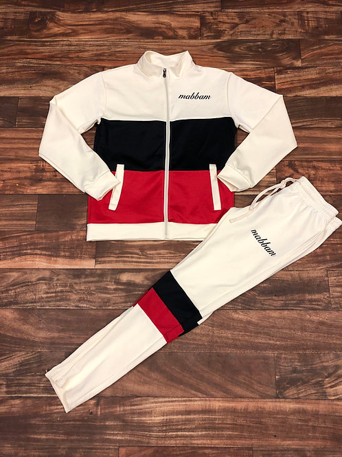 CREAM/RED/BLACK Sweatsuit
