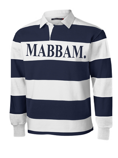 Navy Blue / White Striped Collar Shirt