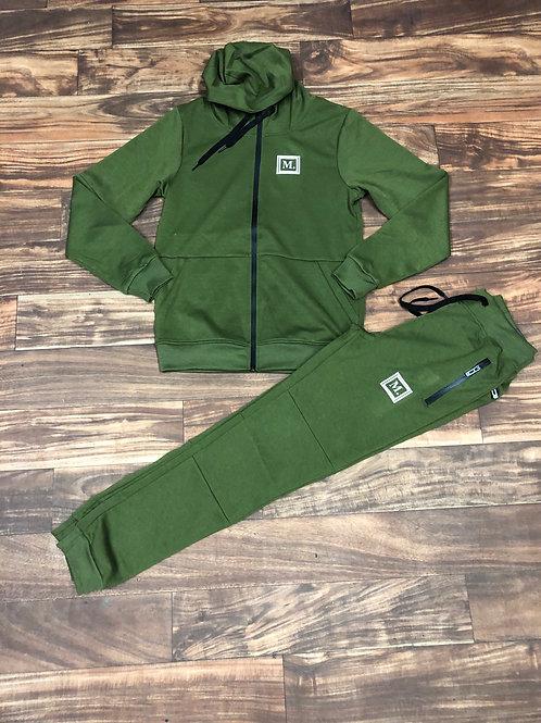 Olive/Black Sweatsuit