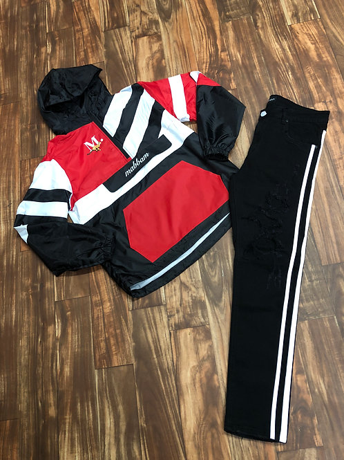 RED/BLK/WH Windbreaker