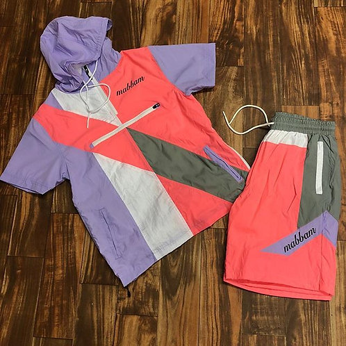 Pink/Purple/White Windbreaker Set