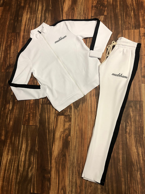 WHITE X BLACK STRIPE TRACKSUIT