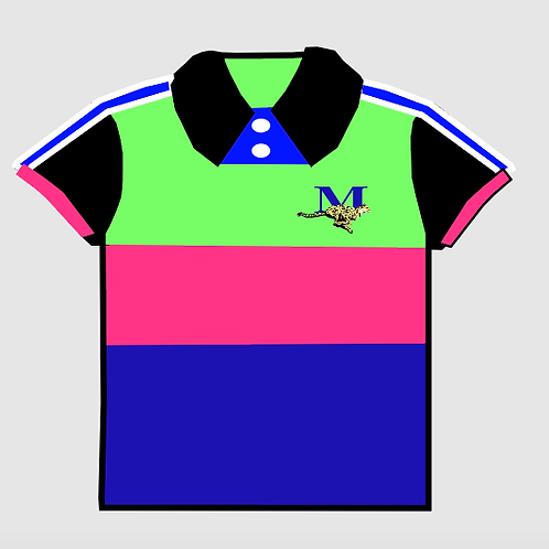 MEN'S  LIME/ROYAL/PINK  POLO